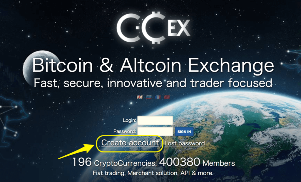 C-CEXでの登録方法