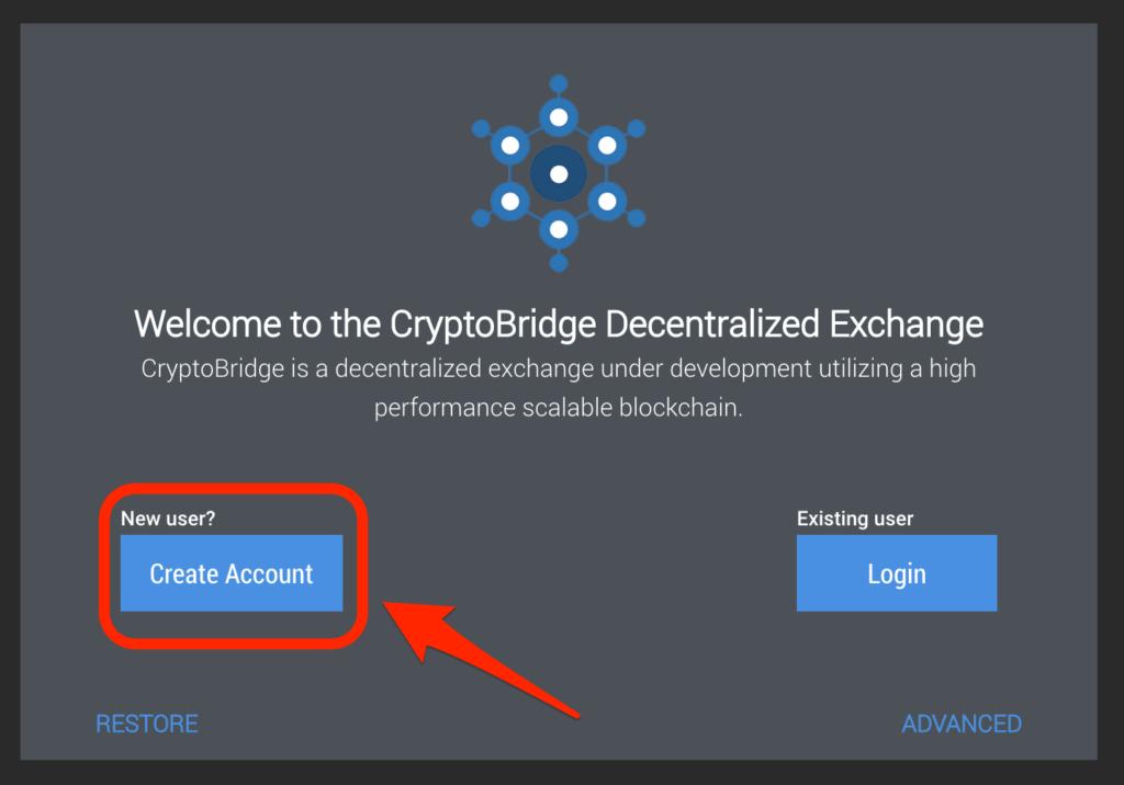 Create Accountをクリック