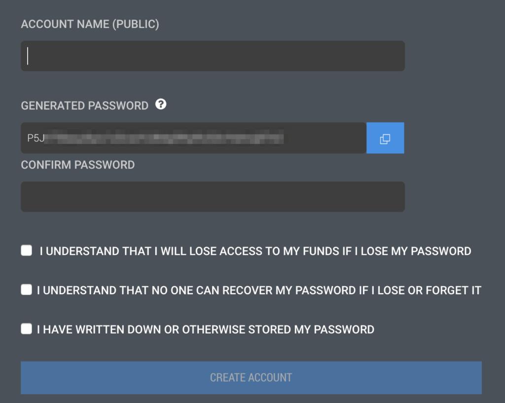 ユーザー名とパスワードの入力