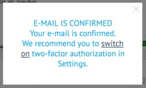 メール確認完了