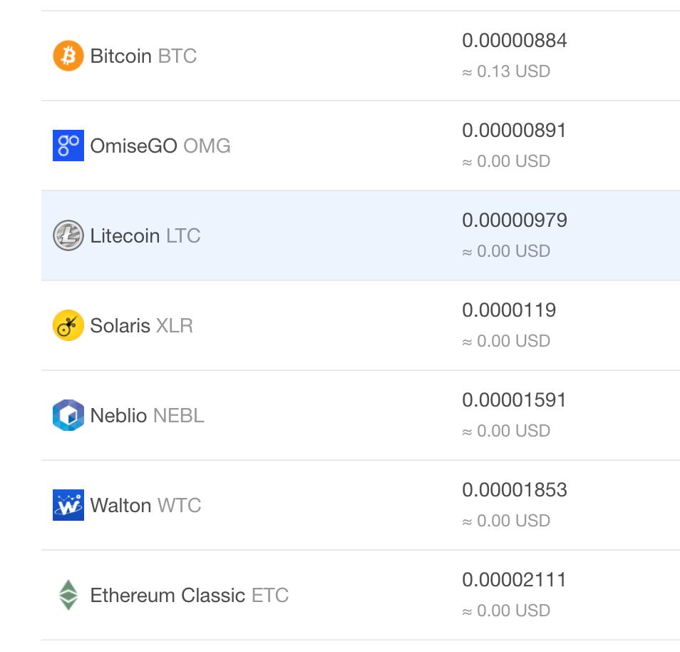KuCoin Sharese($KCS)保有でいろんな通貨が分配される