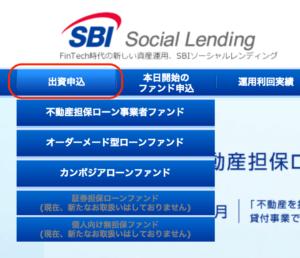 SBIソーシャルレンディング出資申込