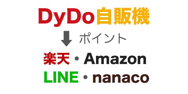 ダイドー自販機で楽天・Amazon・LINE・nanacoポイントが貯まる